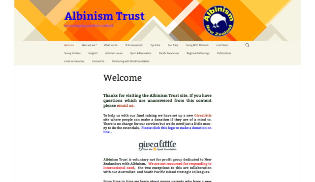 Albinism Trust Webpage